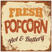 Popcorn Metal Sign — Stock Vector