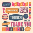 Thank You Design Elements — Stock Vector #31457037