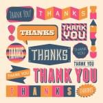 Thank You Design Elements — Stock Vector