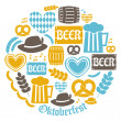 Oktoberfest Icons Collection — Stock Vector