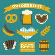 Oktoberfest Icons Collection — Stock vektor