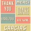 Stock Vector: Thank You Vintage Poster