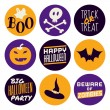 Halloween Icons Collection — Stock Vector