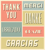 Thank You Vintage Poster — Stock Vector