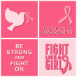 Breast Cancer Awareness Cards Collection — Vector de stock #31480039