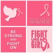 Breast Cancer Awareness Cards Collection — Stock vektor #31480039