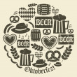 Oktoberfest Icons Collection — Stockvektor
