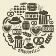 Oktoberfest Icons Collection — Imagen vectorial