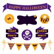 Halloween Design Elements Set — Stockvektor