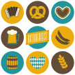 Stock Vector: Oktoberfest Icons Collection