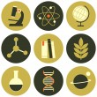 Science Icons Collection — Stock Vector