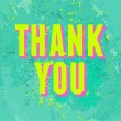 Abstract Thank You Card — Stock vektor