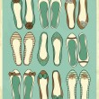 Ballerina Shoes Collection — Grafika wektorowa