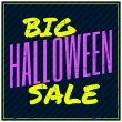 Halloween Sale Poster — Vettoriali Stock