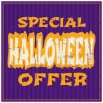 Halloween Sale Poster — Stock Vector