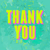 Abstract Thank You Card — Vector de stock