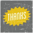 Thank You Greeting Card — Stock Vector