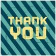 Thank You Greeting Card — Stockvektor