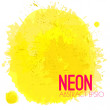 Neon Watercolor Splatter — Stock Vector