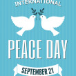 International Peace Day Poster — Stock Vector