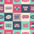 Thank You Seamless Pattern — Stock Vector