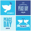 Peace Day Posters Collection — Stock Vector