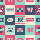 Thank You Seamless Pattern — Wektor stockowy