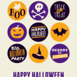 Halloween Greeting Card — Vettoriali Stock