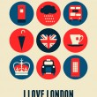 Stock Vector: London Greeting Card