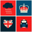 London Cards Collection — Stock vektor