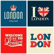 London Cards Collection — Vektorgrafik
