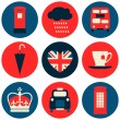 London Icons Collection — Imagens vectoriais em stock