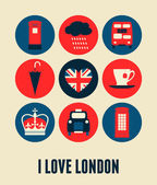 London Greeting Card — Stock Vector