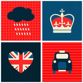 London Cards Collection — Stok Vektör