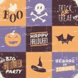 Halloween Vintage Collage — Stock Vector