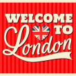 London Greeting Card — Stock vektor