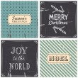 Christmas Greeting Cards Collection — Vektorgrafik