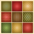 Christmas Backgrounds Collection — Stock Vector