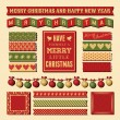 Christmas Design Elements — Vettoriale Stock #35095125