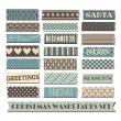 Christmas Washi Tape Collection — Stock Vector