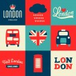 London Cards Collection — Stockvektor