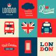 London Cards Collection — Imagen vectorial