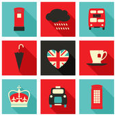 London Icons Collection — Stok Vektör
