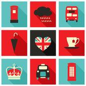 London ikony kolekce — Stock vektor