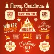 Christmas Design Elements — Stock vektor