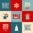 Christmas Cards Collection — Stockvektor