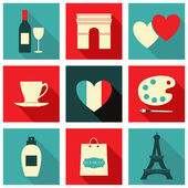 Paris Icons Collection — Stock Vector