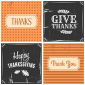 Thanksgiving Cards Collection — Stock Vector