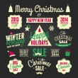 Chalkboard Christmas Design Elements — Stok Vektör