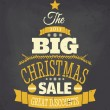 Chalkboard Christmas Sale Poster — Stock Vector #35862089